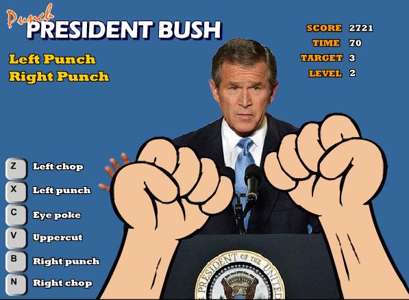 Ударь Президента Буша