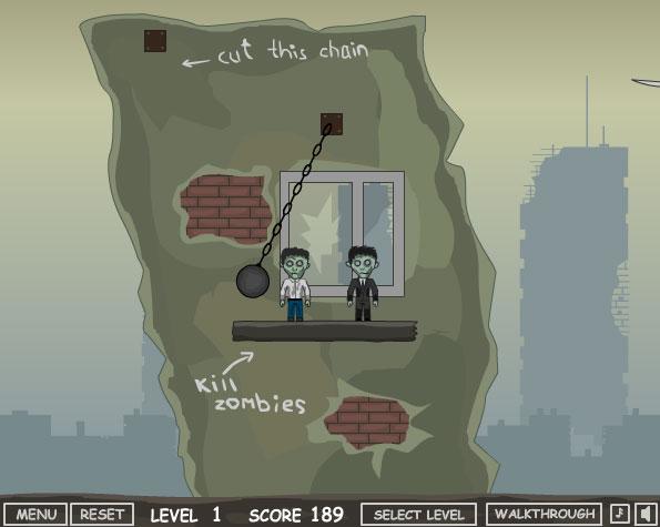 Скинуть Зомби